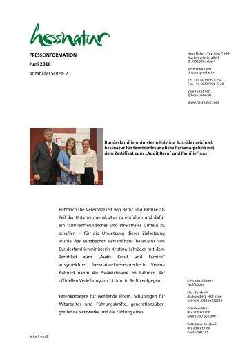 Download- und Druckversion (pdf-Datei, 70 kb) - Hessnatur - Hess ...