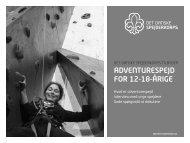 adventurespejd for 12-18-årige - Det Danske Spejderkorps