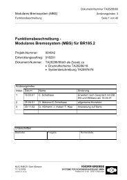Funktionsbeschreibung - Modulares Bremssystem (MBS) für BR185.2