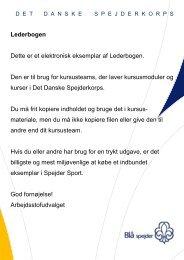 Lederbogen fra DDS - DDS.dk - Det Danske Spejderkorps