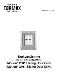 Bruksanvisning iMotion® 2301 Sliding Door Drive ... - coBuilder