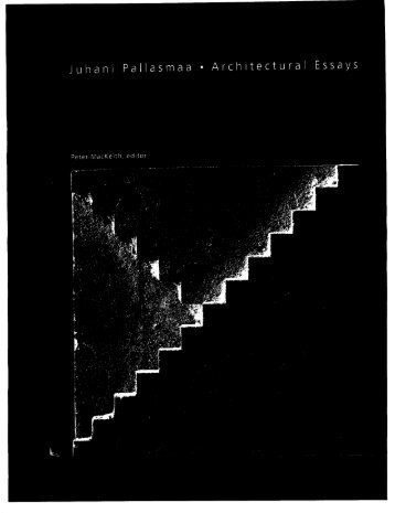 Pallasmaa #1a - University of Utah Graduate School of Architecture