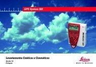 Levantamentos Estáticos e Cinemáticos GPS System 500