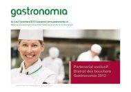 Partenariat exclusif Bistrot des bouchers Gastronomia 2012