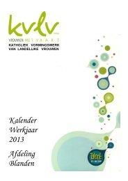 Kalender Werkjaar 2013 Afdeling Blanden Kalender ... - Skynet.be