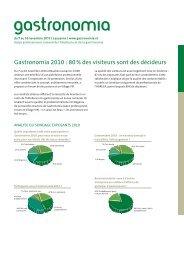 Gastronomia 2010 : 80 % des visiteurs sont des décideurs