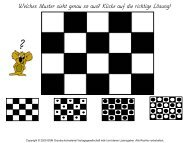 Welches Muster sieht genau so aus? Klicke auf die richtige Lösung!