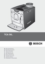 инструкция для кофемашины Bosch Tca 5608 ремонт