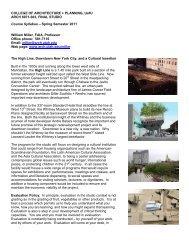 Architectural Design Studio Overview - University of Utah Graduate ...