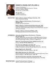 robert a. young, fapt, pe, leed ap - University of Utah Graduate ...