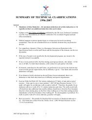 SUMMARY OF TECHNICAL CLARIFICATIONS, 1996-2004