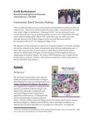 Research/Teaching/Service Statemen - University of Utah Graduate ...