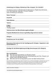 Anmeldung zum Hiphop- Workshop in Neu- Anspach, 19