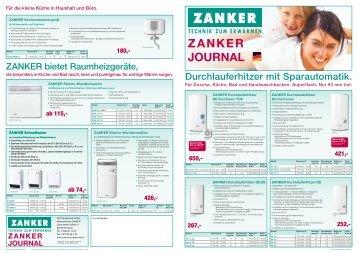 ZANKER JOURNAL - Zanker-Haustechnik. Ihr Spezialist für ...