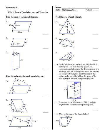 geometry 8 2 worksheet find the area of each trapezoid rhombus. Black Bedroom Furniture Sets. Home Design Ideas