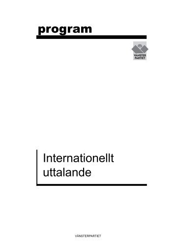Internationellt uttalande PM