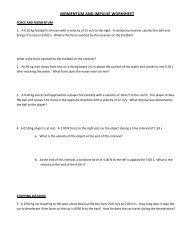 Physics Worksheet Momentum Impulse Work and Energy_Answers
