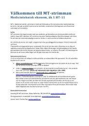 MT-strimma för medicinteknisk ekonom