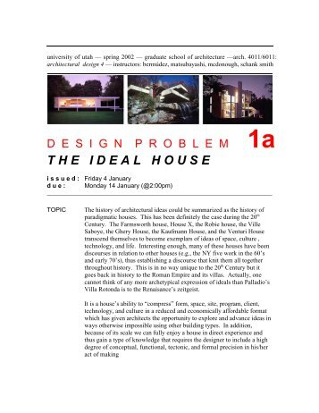 theidealhouse - University of Utah Graduate School of Architecture