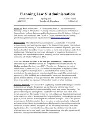 Planning Law & Administration - University of Utah Graduate School ...