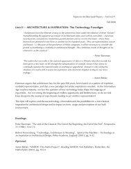 Unit II – ARCHITECTURE & INSPIRATION: The Technology Paradigm