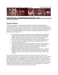General Information - University of Utah Graduate School of ...