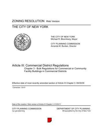 NYC Zoning Code