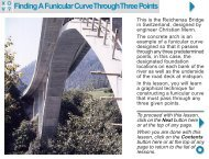 Finding A Funicular Curve Through Three Points