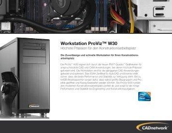 Workstation ProViz™ W30 - CADnetwork