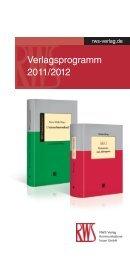 Verlagsprogramm 2011/2012