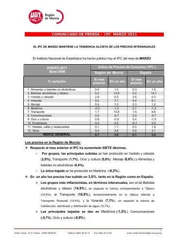2011 IPC MARZO - Intranet de UGT Murcia