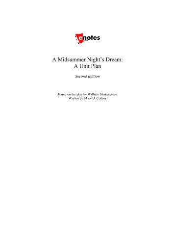 A Midsummer Night's Dream: A Unit Plan - Cypress-Fairbanks High ...
