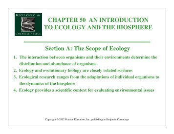the scope of ecology Aims and scope functional ecology publishes high-impact papers that enable a mechanistic understanding of ecological pattern and process from the organismic to the ecosystem scale because of the multifaceted nature of this challenge, papers can be based on a wide range of approaches.