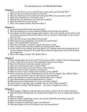 Scarlet Letter Prison Door Essay Topics - image 4