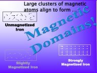 Large clusters of magnetic atoms align to form …