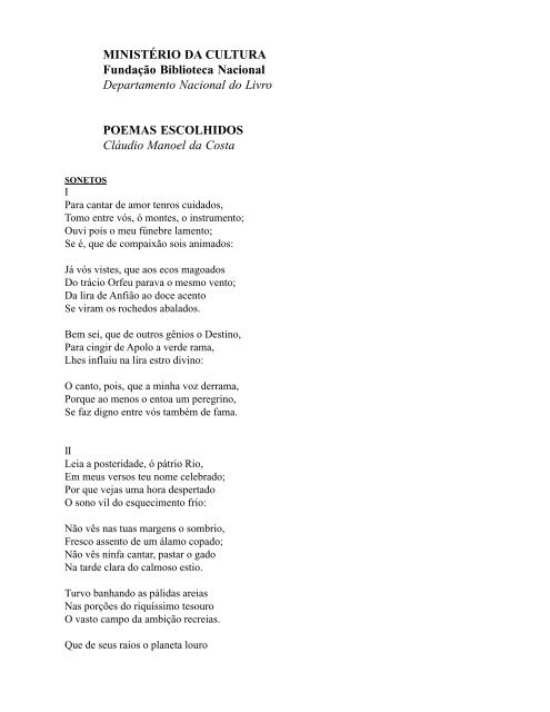 Poemas Escolhidos - Fundação Biblioteca Nacional