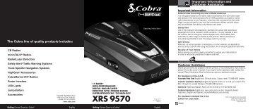 XRS 9570 Manual - Cobra Electronics