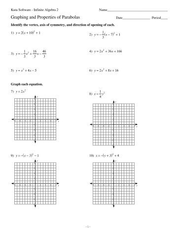 graphing parabolas worksheet 2 with answer key. Black Bedroom Furniture Sets. Home Design Ideas