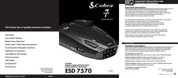 ESD 7570 Manual - Cobra Electronics