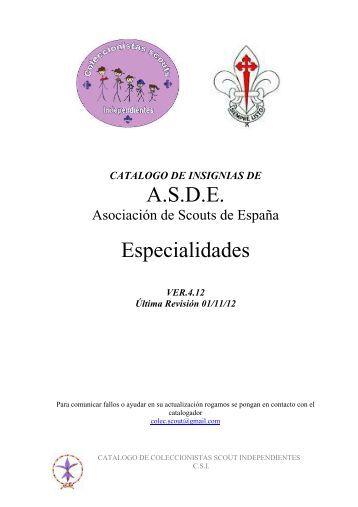 14 ASDE especialidades 4.12 - Coleccionistas Scouts Independientes