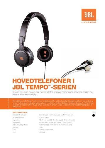 HOVEDTELEFONER I JBL TEMPO™-SERIEN