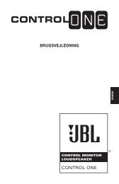 BRUGSVEJLEDNING CONTROL ONE - JBL