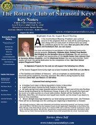 08/18/11 - Rotary Club of the Sarasota Keys, Florida, USA