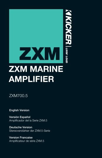 ZXM MARINE AMPLIFIER - Rock The Boat Audio