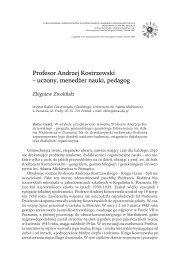 Profesor Andrzej Kostrzewski - Wydział Nauk Geograficznych i ...