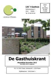 De Gasthuiskrant Maandblad december 2012 - SeniorenNet