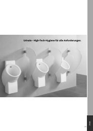Urinale - High-Tech-Hygiene für alle Anforderungen. - Keramag