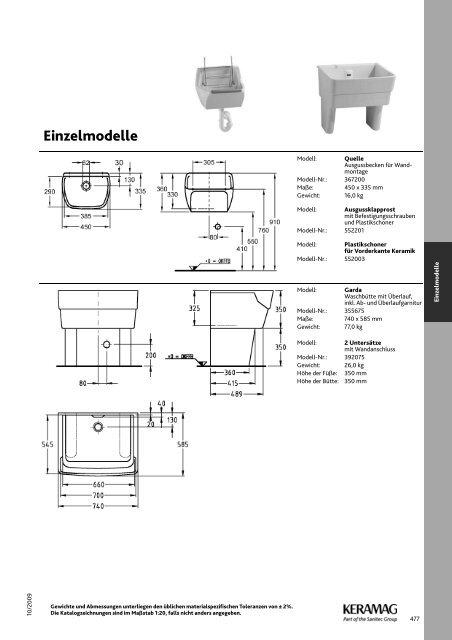 Einzelmodelle - bedarfsgerechte Speziallösungen. - Keramag