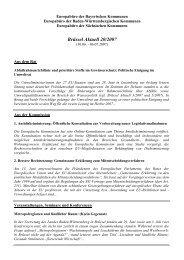 Brüssel Aktuell 20/2007 - Europabüro der bayerischen Kommunen