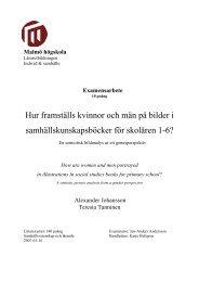 Hur framställs kvinnor och män på bilder i ... - Malmö högskola